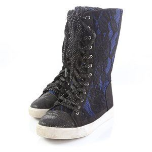 Disney D-Signed Lace Sparkly High Tops Shoes Boots